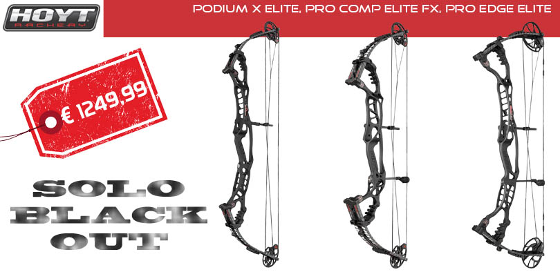Hoyt Podium X Elite, Pro Comp Elite Fx, Pro Edge Elite Black Out