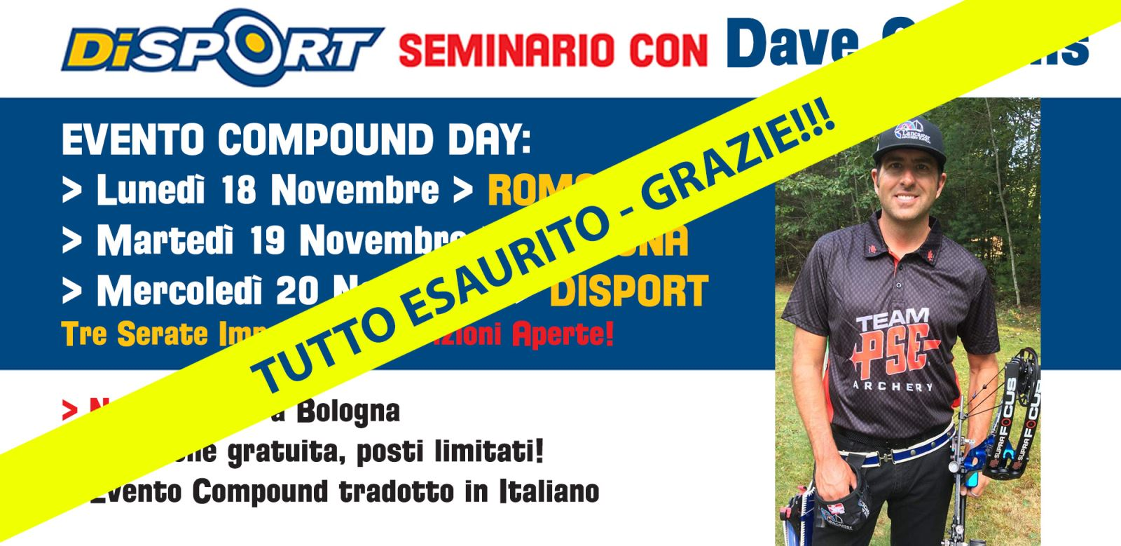 Seminario Compound Day con Dave Cousins 2019
