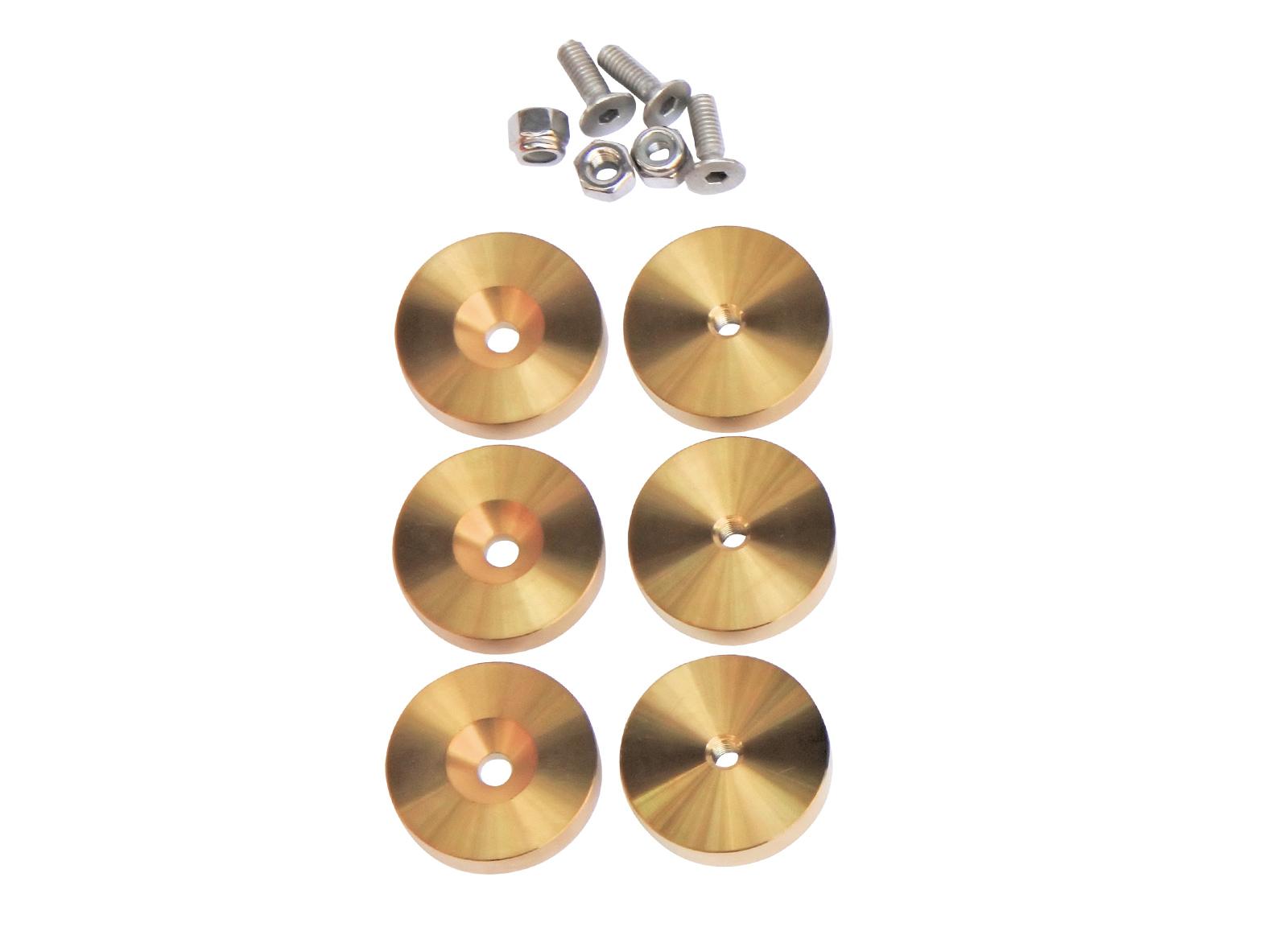 GILLO PESI PER RISER G1 STAINLES STEEL 6X25gr TITANIUM GOLD PLATED + VITI