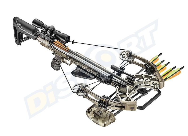 EZ ARCHERY BALESTRA COMPOUND ACCELERATOR 410+ fps CAMO 185# CON ACCESSORI