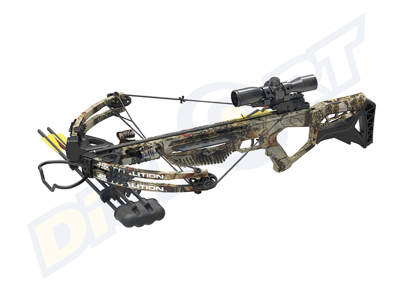 PSE BALESTRA COALITION CAMO 185# 380FPS COMBO KIT SCOPE FRECCE FARETRA E CARICHINO