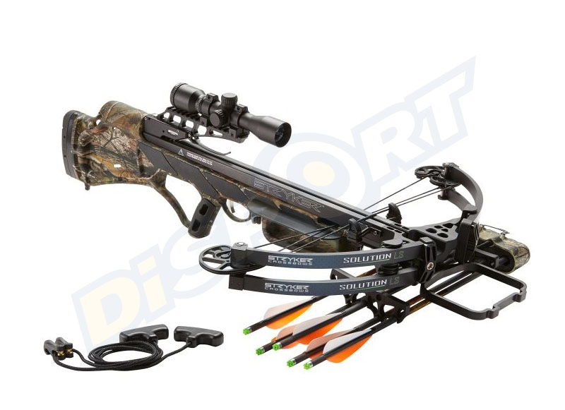STRYKER CROSSBOW SOLUTION LS 390 PACKAGE COMPLETO 155# CAMO