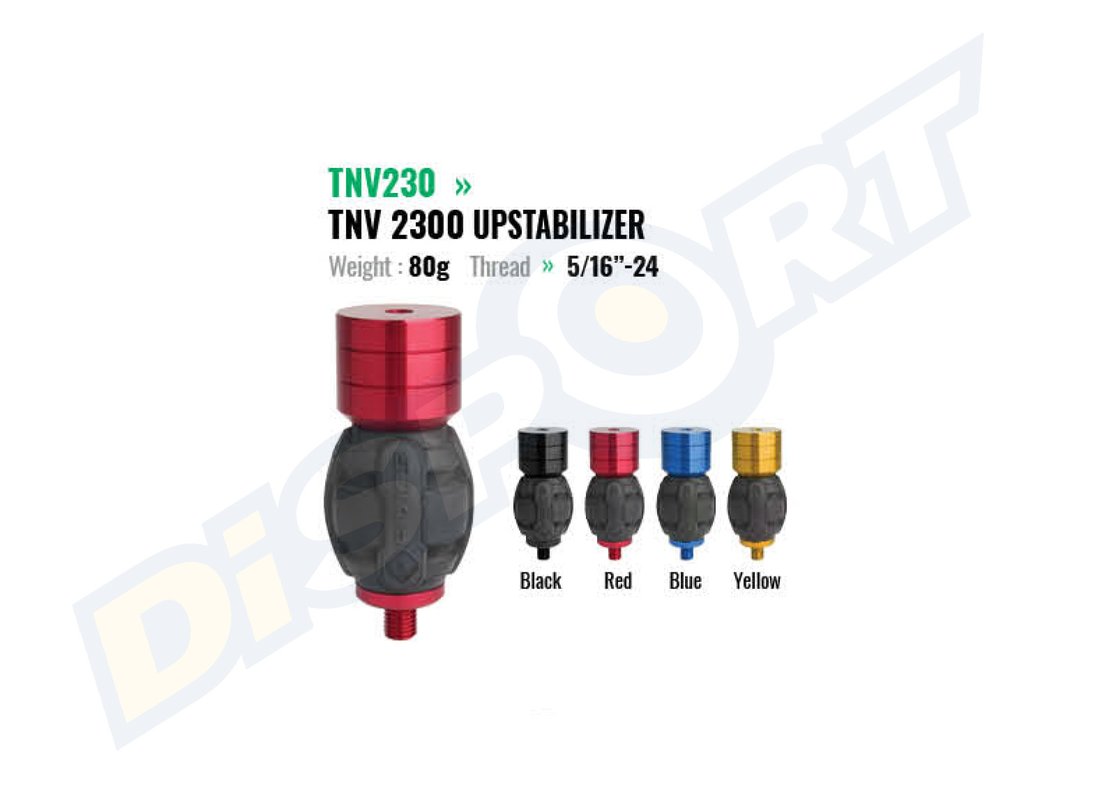FIVICS TOP UPSTABILIZER 5/16'' CON PESI 80GR
