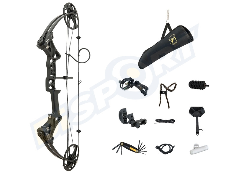 TOPOINT ARCO COMPOUND M1 19-30'' 20-70# KIT CON ACCESSORI PER LA CACCIA