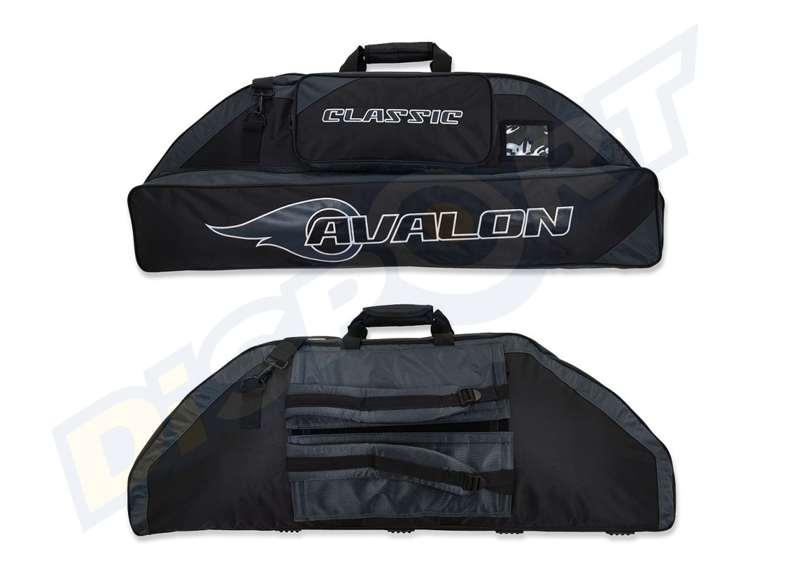 AVALON BORSA COMPOUND 2 TASCHE 126 CM BLACK GRAY