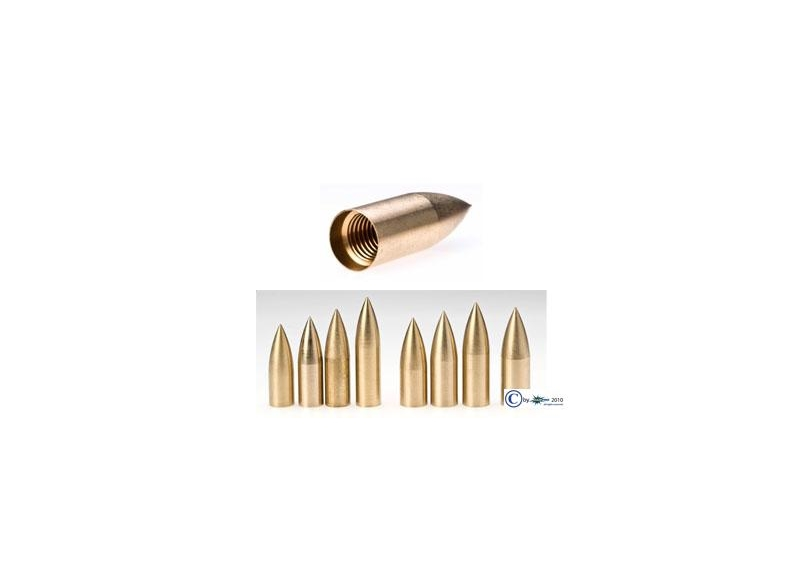 GAS PRO PUNTA BULLET OTTONE FILETTATA