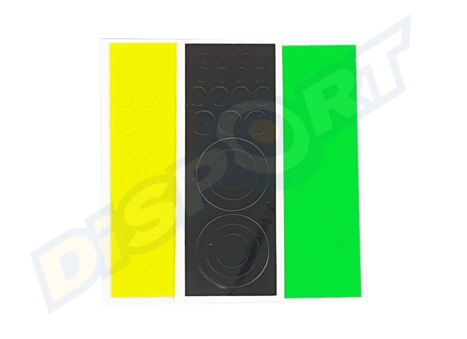 GAS PRO LENS DECALS KIT (1 BLACK, 1 FLUO GREEN, 1 FLUO YELLOW)