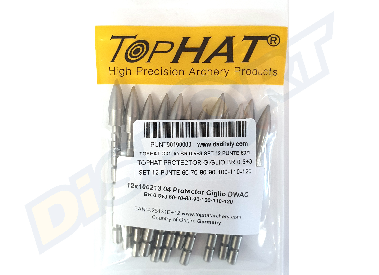 TOPHAT PROTECTOR GIGLIO DWAC BR 0.5+3 SET 12 PUNTE 60-70-80-90-100-110-120 (100213.04)