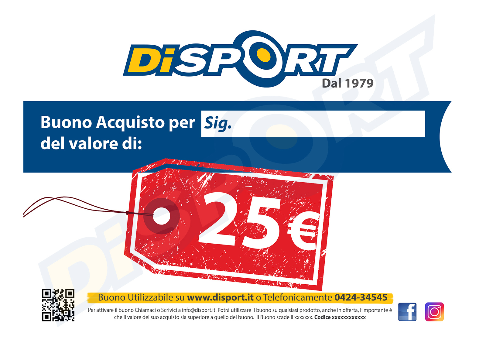 BUONO ACQUISTO 25 EURO