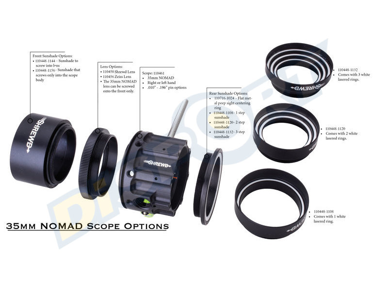 SHREWD SCOPE NOMAD 35MM CON PIN SOLO CORPO