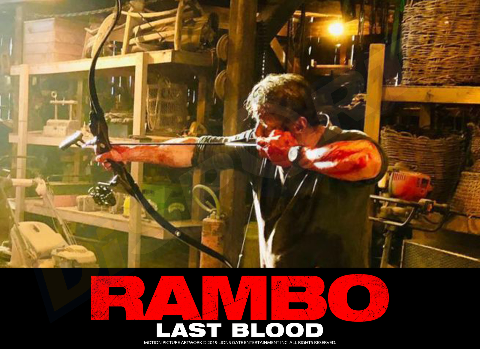 BEAR ARCO TRADIZIONALE FIELDBOW TD RAMBO LAST BLOOD LIMITED EDITION