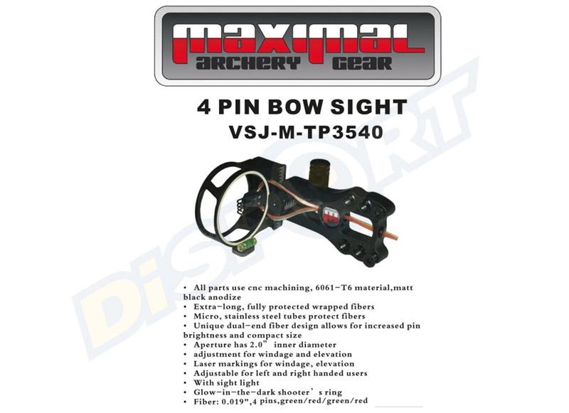 MAXIMAL MIRINO 4 PIN DUSK METAL .019 BLACK