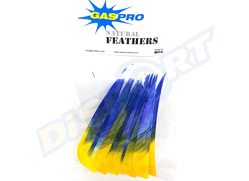 GAS PRO NATURAL FEATHERS 4'' SHIELD CONF. 12 EAGLE VERSION