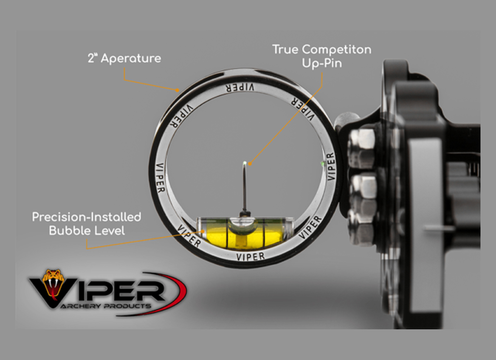 VIPER MIRINO COMPOUND TACTICAL SERIES QUICK SET  SIDEWINDER 1 PIN 0.019 GREEN